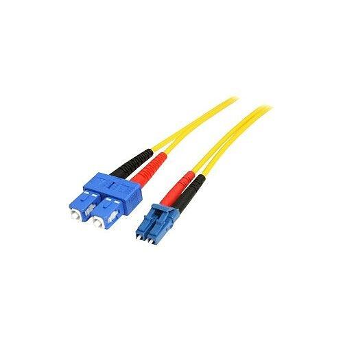 StarTech 10m Fiber Optic Cable Single-Mode Duplex 9/125 LSZH LC/SC OS1 LC to SC Fiber Patch Cable 2 x LC Male Network 2 x SC Male Network Patch Cable