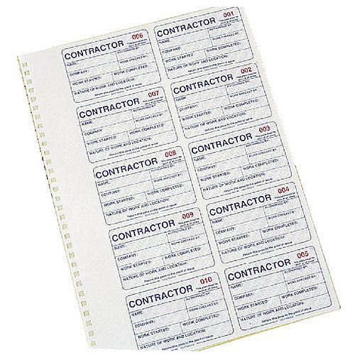 Identibadge Contractors Management System Duplicate Refill IBCONR
