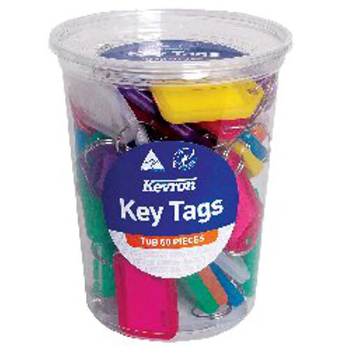 Kevron Standard Key Tags Assorted Pack of 50 ID5TUB50ASST