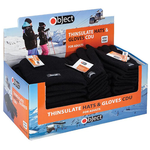 Thinsulate Gloves and Hats Knitted Black Pack of 24 SP123/4