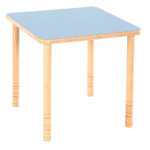 Flexi Square Height Adjustable Table 64-76cm Blue Top