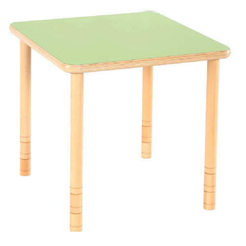 Flexi Square Height Adjustable Table 48-58cm Green Top