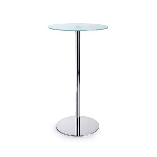 Round Glass Coffee Table D600xH1100 Round Base
