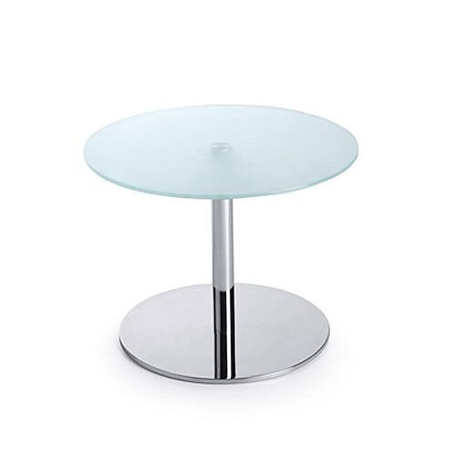 25 Inch Round Glass Coffee Table: Round Glass Coffee Table D600xH450 Round Base