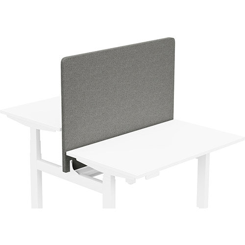 Acoustic Screen For Leap Height Adjustable Bench W1200xH850mm - Camira CARA Fabric - Colour Code: EJ016-Portland