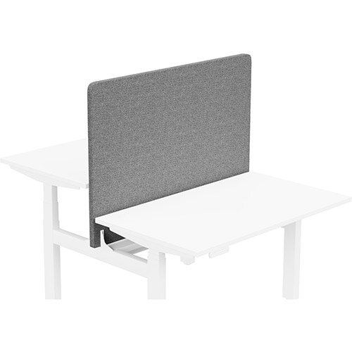 Acoustic Screen For Leap Height Adjustable Bench W1200xH850mm - Camira CARA Fabric - Colour Code: EJ104-Lead