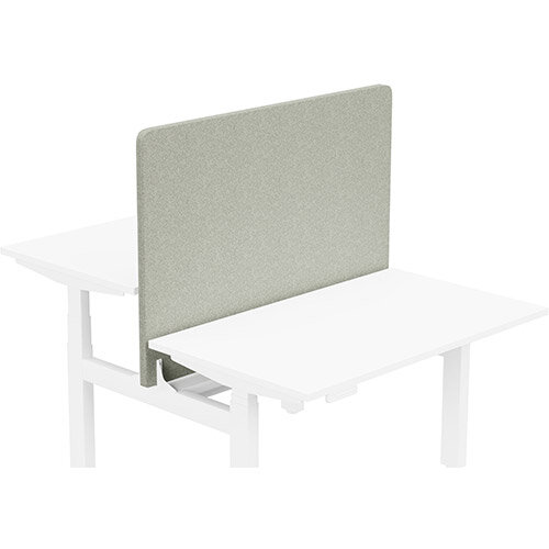 Acoustic Screen For Leap Height Adjustable Bench W1200xH850mm - Camira BLAZER LITE Fabric - Colour Code: LTH39-Retreat