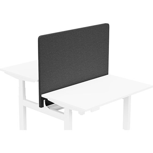 Acoustic Screen For Leap Height Adjustable Bench W1200xH850mm - Camira BLAZER LITE Fabric - Colour Code: LTH40-Haven