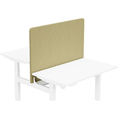 Acoustic Screen For Leap Height Adjustable Bench W1200xH850mm - Camira BLAZER LITE Fabric - Colour Code: LTH48-Bliss