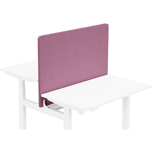 Acoustic Screen For Leap Height Adjustable Bench W1200xH850mm - Camira BLAZER LITE Fabric - Colour Code: LTH49-Angel