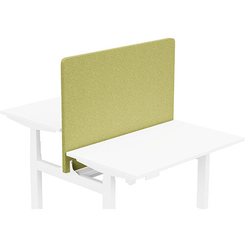 Acoustic Screen For Leap Height Adjustable Bench W1200xH850mm - Camira BLAZER LITE Fabric - Colour Code: LTH50-Hope