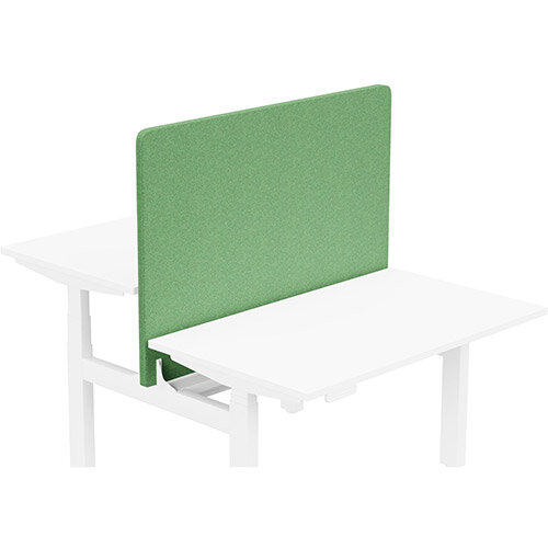 Acoustic Screen For Leap Height Adjustable Bench W1200xH850mm - Camira BLAZER LITE Fabric - Colour Code: LTH51-Graceful