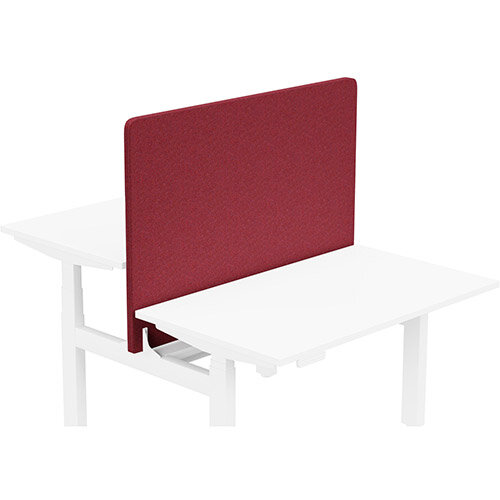 Acoustic Screen For Leap Height Adjustable Bench W1200xH850mm - Camira BLAZER LITE Fabric - Colour Code: LTH58-Devoted