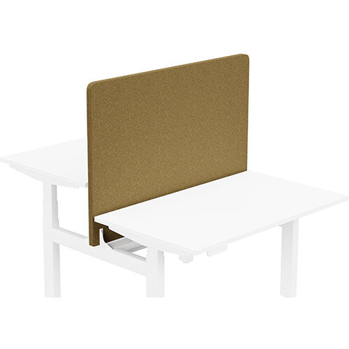Acoustic Screen For Leap Height Adjustable Bench W1200xH850mm - Camira BLAZER LITE Fabric - Colour Code: LTH59-Worship