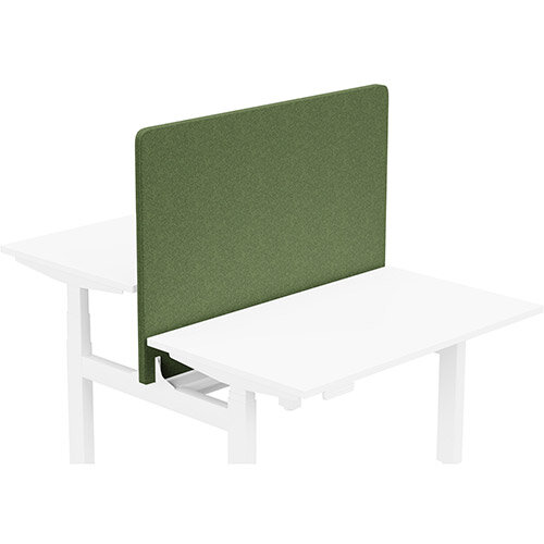 Acoustic Screen For Leap Height Adjustable Bench W1200xH850mm - Camira BLAZER LITE Fabric - Colour Code: LTH60-Shelter