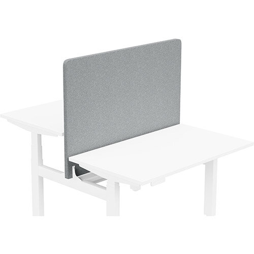 Acoustic Screen For Leap Height Adjustable Bench W1200xH850mm - Camira BLAZER LITE Fabric - Colour Code: LTH61-True