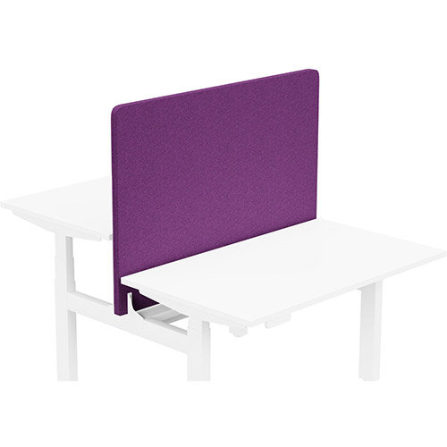 Acoustic Screen For Leap Height Adjustable Bench W1200xH850mm - Camira BLAZER LITE Fabric - Colour Code: LTH66-Pamper