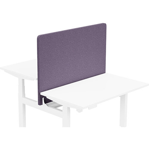 Acoustic Screen For Leap Height Adjustable Bench W1200xH850mm - Camira BLAZER LITE Fabric - Colour Code: LTH68-Faith