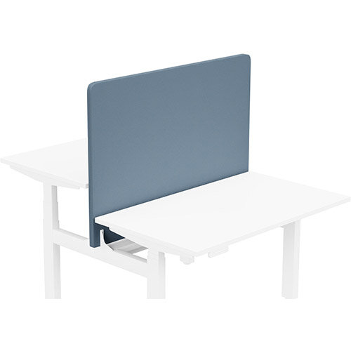 Acoustic Screen For Leap Height Adjustable Bench W1200xH850mm - Camira LUCIA Fabric - Colour Code: YB004-Martinique