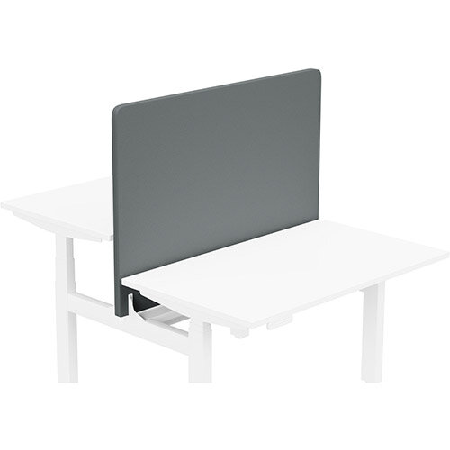 Acoustic Screen For Leap Height Adjustable Bench W1200xH850mm - Camira LUCIA Fabric - Colour Code: YB019-Paseo