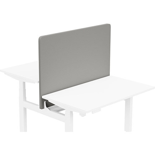 Acoustic Screen For Leap Height Adjustable Bench W1200xH850mm - Camira LUCIA Fabric - Colour Code: YB038-Tequila