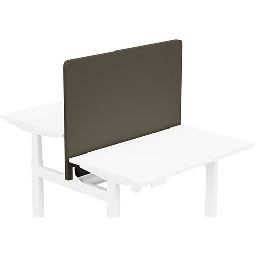 Acoustic Screen For Leap Height Adjustable Bench W1200xH850mm - Camira LUCIA Fabric - Colour Code: YB046-Sombrero