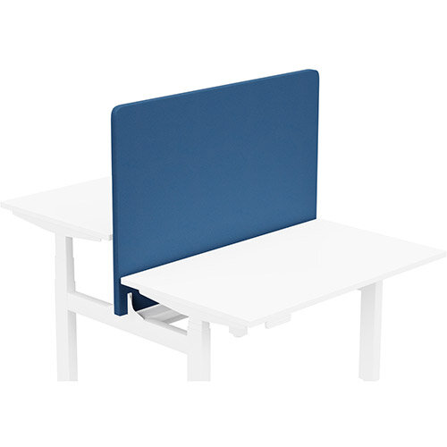 Acoustic Screen For Leap Height Adjustable Bench W1200xH850mm - Camira LUCIA Fabric - Colour Code: YB089-Scuba