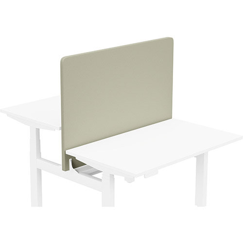 Acoustic Screen For Leap Height Adjustable Bench W1200xH850mm - Camira LUCIA Fabric - Colour Code: YB093-Aruba