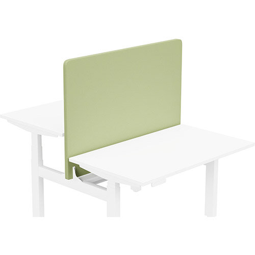 Acoustic Screen For Leap Height Adjustable Bench W1200xH850mm - Camira LUCIA Fabric - Colour Code: YB096-Apple