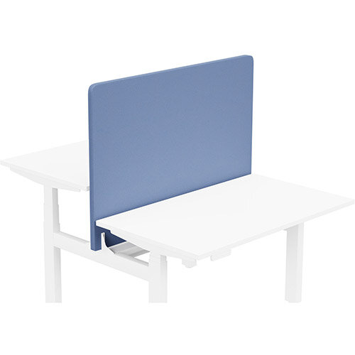 Acoustic Screen For Leap Height Adjustable Bench W1200xH850mm - Camira LUCIA Fabric - Colour Code: YB097-Bluebell