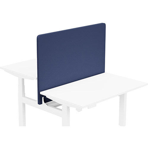 Acoustic Screen For Leap Height Adjustable Bench W1200xH850mm - Camira LUCIA Fabric - Colour Code: YB100-Ocean