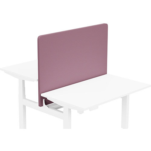 Acoustic Screen For Leap Height Adjustable Bench W1200xH850mm - Camira LUCIA Fabric - Colour Code: YB102-Bridgetown