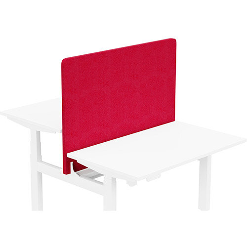 Acoustic Screen For Leap Height Adjustable Bench W1200xH850mm - Camira LUCIA Fabric - Colour Code: YB105-Belize