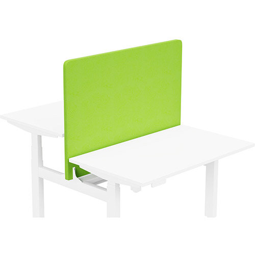 Acoustic Screen For Leap Height Adjustable Bench W1200xH850mm - Camira LUCIA Fabric - Colour Code: YB156-Madura