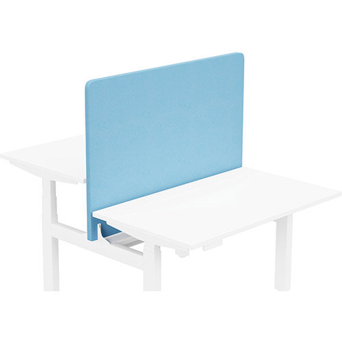 Acoustic Screen For Leap Height Adjustable Bench W1200xH850mm - Camira LUCIA Fabric - Colour Code: YB157-Marianna