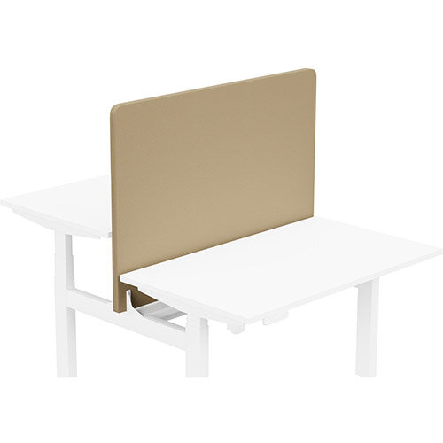 Acoustic Screen For Leap Height Adjustable Bench W1200xH850mm - Camira LUCIA Fabric - Colour Code: YB302-Sandstorm