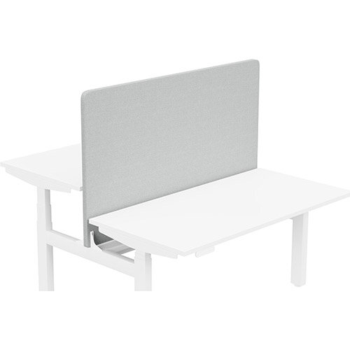 Acoustic Screen For Leap Height Adjustable Bench W1400xH850mm - Camira CARA Fabric - Colour Code: EJ004-Glass