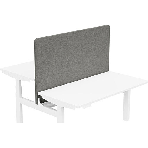 Acoustic Screen For Leap Height Adjustable Bench W1400xH850mm - Camira CARA Fabric - Colour Code: EJ016-Portland