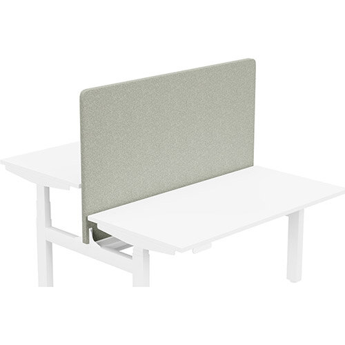 Acoustic Screen For Leap Height Adjustable Bench W1400xH850mm - Camira BLAZER LITE Fabric - Colour Code: LTH39-Retreat