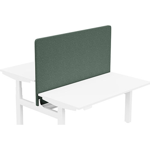Acoustic Screen For Leap Height Adjustable Bench W1400xH850mm - Camira BLAZER LITE Fabric - Colour Code: LTH42-Hush