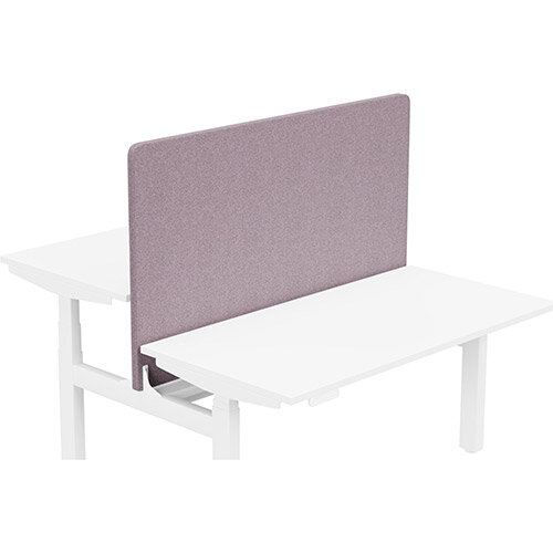 Acoustic Screen For Leap Height Adjustable Bench W1400xH850mm - Camira BLAZER LITE Fabric - Colour Code: LTH47-Love