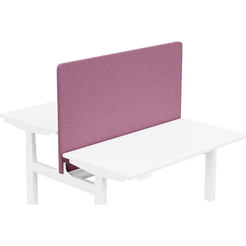 Acoustic Screen For Leap Height Adjustable Bench W1400xH850mm - Camira BLAZER LITE Fabric - Colour Code: LTH49-Angel