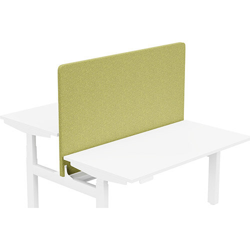 Acoustic Screen For Leap Height Adjustable Bench W1400xH850mm - Camira BLAZER LITE Fabric - Colour Code: LTH50-Hope