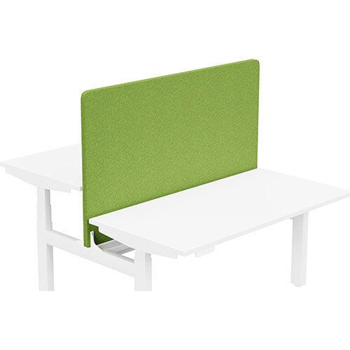 Acoustic Screen For Leap Height Adjustable Bench W1400xH850mm - Camira BLAZER LITE Fabric - Colour Code: LTH55-Happy