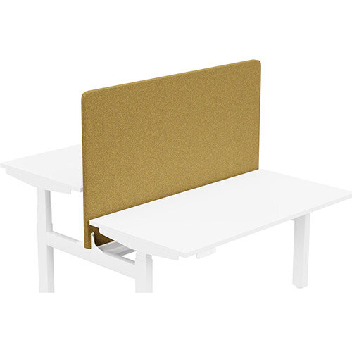 Acoustic Screen For Leap Height Adjustable Bench W1400xH850mm - Camira BLAZER LITE Fabric - Colour Code: LTH56-Buddah