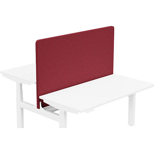 Acoustic Screen For Leap Height Adjustable Bench W1400xH850mm - Camira BLAZER LITE Fabric - Colour Code: LTH58-Devoted