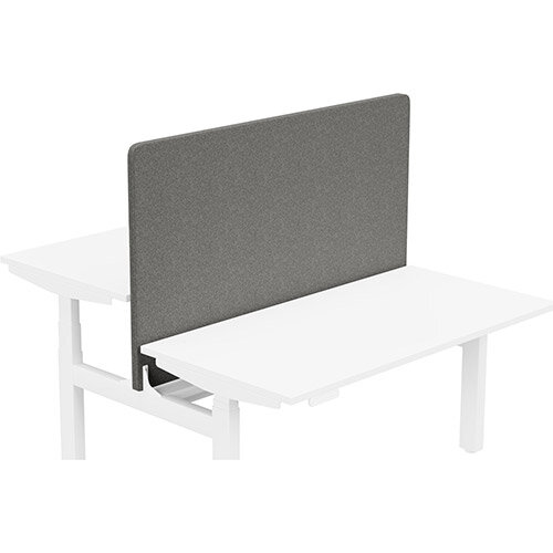 Acoustic Screen For Leap Height Adjustable Bench W1400xH850mm - Camira BLAZER LITE Fabric - Colour Code: LTH62-Cuddle