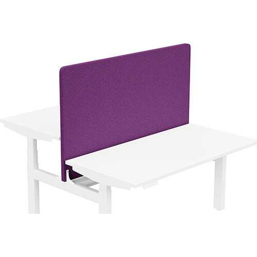 Acoustic Screen For Leap Height Adjustable Bench W1400xH850mm - Camira BLAZER LITE Fabric - Colour Code: LTH66-Pamper