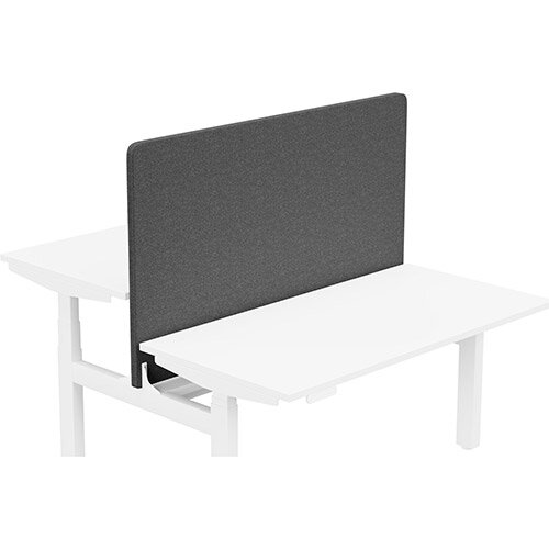 Acoustic Screen For Leap Height Adjustable Bench W1400xH850mm - Camira BLAZER LITE Fabric - Colour Code: LTH70-Solace