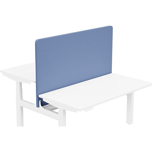 Acoustic Screen For Leap Height Adjustable Bench W1400xH850mm - Camira LUCIA Fabric - Colour Code: YB097-Bluebell